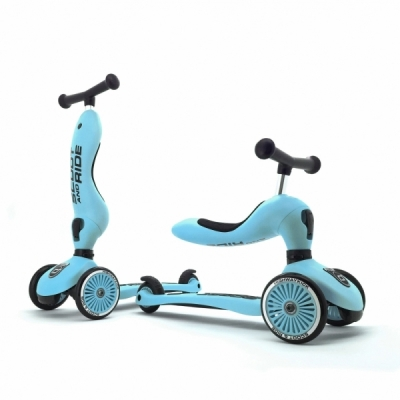 Trotineta copii transformabila 2in1 Scoot & Ride HighwayKick 1 Blueberry