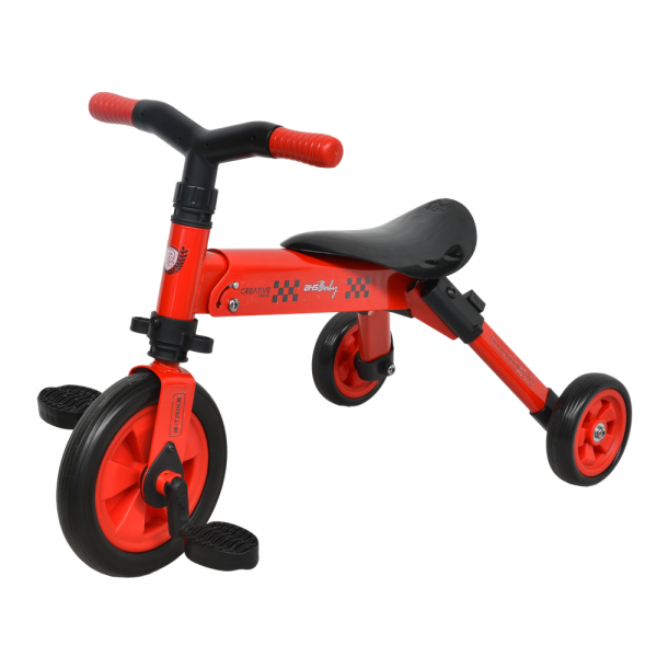 Tricicleta 2 in 1 Dhs B-Trike Red