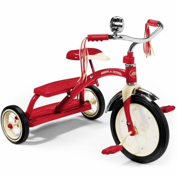 Tricicleta Radio Flyer Classic Red Dual Deck